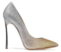 Dégradé glittered leather pumps