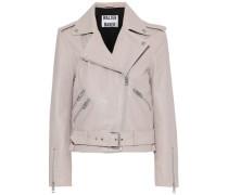 Allison Leather Biker Jacket Neutral