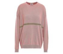 Bead-embellished Cashmere Sweater Lavender