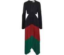 Rio cutout color-block stretch-crepe midi dress