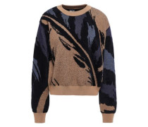 Jacquard-knit Sweater Brown