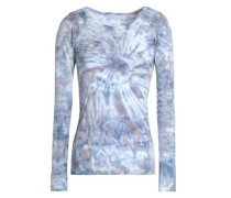 Tie-dyed cotton and modal-blend jersey top