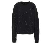 Printed French Cotton-terry Sweatshirt Black