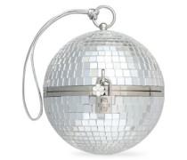 Metallic Pvc Clutch Silver Size --