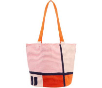 Jonas Color-block Woven Tote Pink Size --