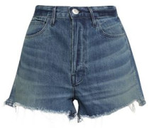 Carter Chereen Frayed Denim Shorts Mid Denim  3