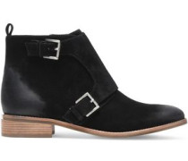 Adams buckled suede ankle boots