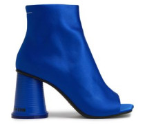 Satin Ankle Boots Bright Blue
