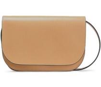 Woman Textured-leather Shoulder Bag Sand