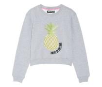 Embellished cotton-blend jersey sweatshirt