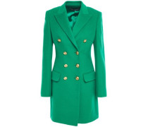 Double-breasted Brushed-felt Cashmere Blazer Green