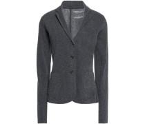 Mélange stretch cotton and cashmere-blend jacket