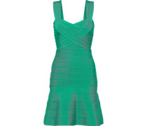 Fluted Bandage Mini Dress Green