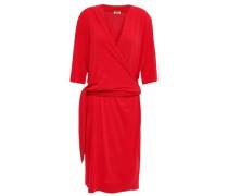 Qizi Wrap-effect Stretch-crepe Dress Crimson