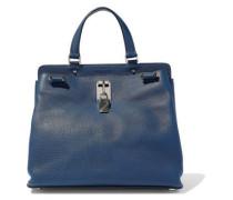 Joylock Pebbled-leather Shoulder Bag Storm Blue Size --