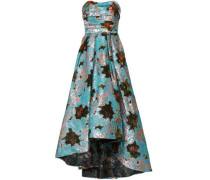 Strapless Brocade And Fil Coupé Gazer Gown Light Blue