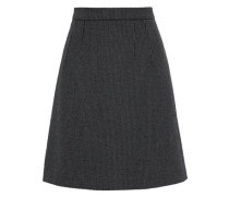Pinstriped Wool-blend Mini Skirt Gray