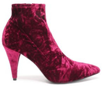 Crushed-velvet ankle boots