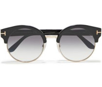 Alissa Round-frame Acetate And Gold-tone Sunglasses Black Size --
