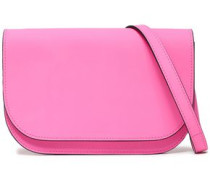 Coated-leather Shoulder Bag Bubblegum Size --
