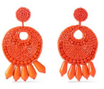 Gold-tone beaded earrings