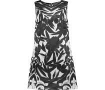 April printed satin mini dress