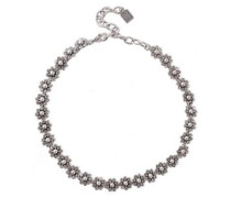 Silver And Gunmetal-tone Crystal Necklace Silver Size --
