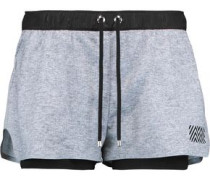 Hero layered stretch-knit shorts