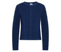 Pointelle-knit Cardigan Indigo