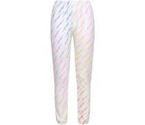 Printed Fleece Track Pants Multicolor