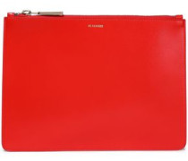 Woman Leather Pouch Tomato Red
