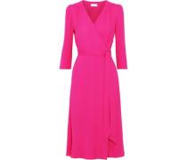 Glenda Cady Midi Wrap Dress Bright Pink