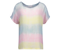 Carine frayed tie-dyed gauze top