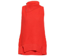 Ribbed Wool And Cashmere-blend Sweater Bright Orange