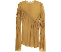 Gathered crepon blouse
