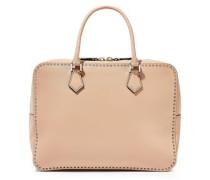 Stud Stitching Leather Shoulder Bag Neutral Size --