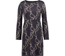 Metallic jacquard-knit dress