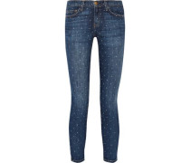 Woman The Stiletto Printed Low-rise Skinny Jeans Mid Denim