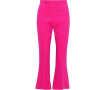 Crepe Kick-flare Pants Bright Pink