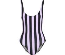 The Anne-marie Striped Swimsuit Lavender