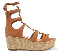 Hudson Lace-up Platform Espadrille Sandals Light Brown