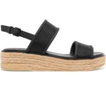 Shana canvas and leather slingback sandals