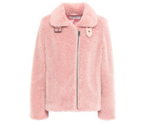Woman Faux Shearling Coat Antique Rose