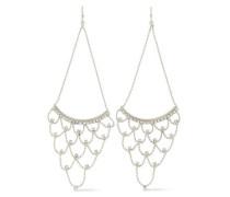 Rhodium-plated crystal earrings