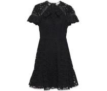 Woman Corentin Ruffle-trimmed Broderie Anglaise Mini Dress Black
