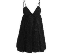 Tinseled crepe mini dress