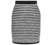Striped Tinsel and stretch-knit mini skirt