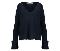 Cotton, wool and cashmere-blend sweater