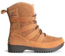 Meadow Leather-trimmed Suede Snow Boots Camel