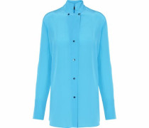 Crepe De Chine Shirt Azure